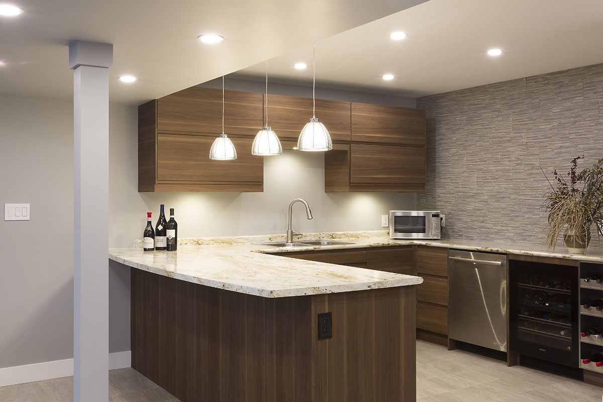 Winnipeg Renovation Kitchen Renovation Mosaic Tile Wine Cellar - Lifestyle basements
